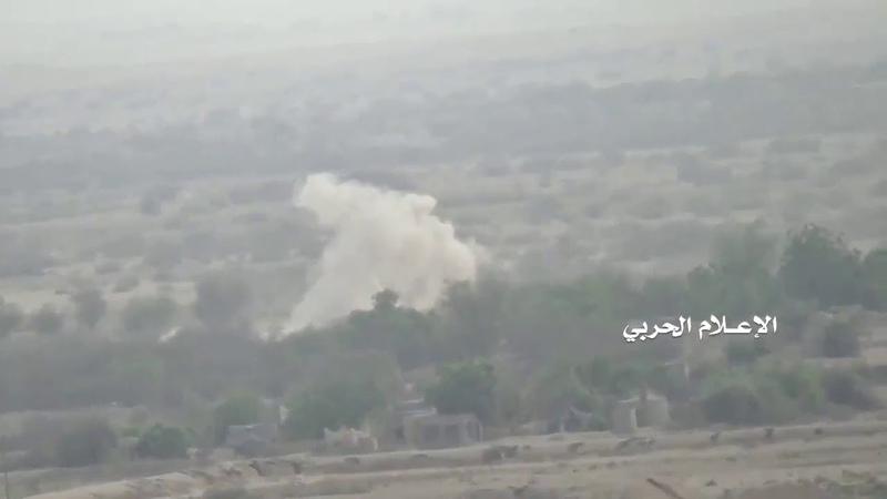 Обстрел позиций хадистов в треугольнике Ахам Хаджа