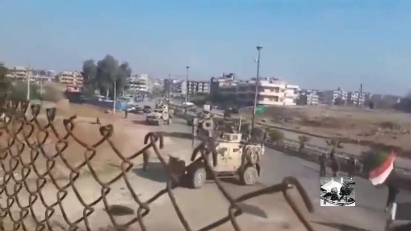 Сирия! Срочно! 11.12.19. Сирийские военные в городе Камышли не пропустили колонну ВС США