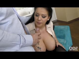 Anissa jolie the big busty surprise / дед трахает секретаршу [anal, big ass, big tits, cum on tits, natural tits, stockings]