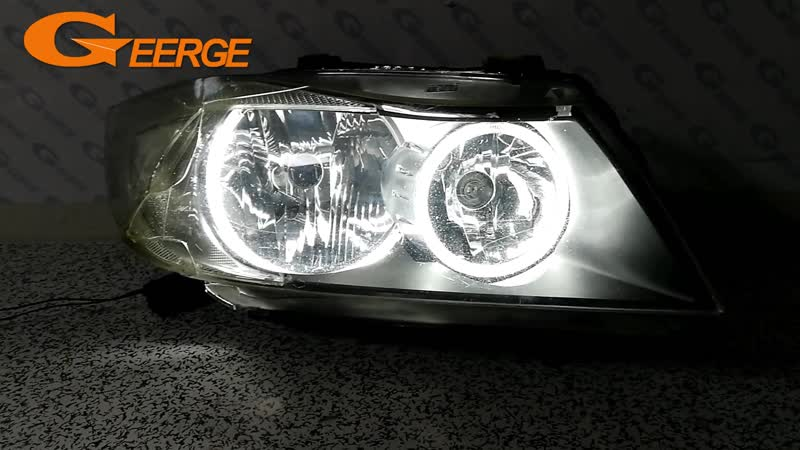 For BMW E90 E91 saloon touring 2005-2008 Halogen headlight perfect compatible Ultra bright illumination CCFL Angel Eyes kit