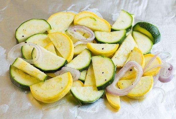 Лосось, запечённый в фольге с овощами, изображение №2