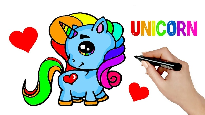 How to Draw Cartoon Unicorn Super Cute and Easy Step by Step Drawing Tutorial for Kids