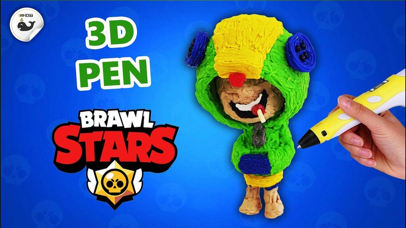 3D-pen | Leon from Brawl Stars| How to draw Leon from Brawl Stars with a 3D pen.