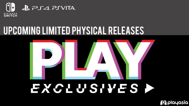 Physical Releases for Switch, PS4, Vita!   PLAY Exclusives TGS 2018