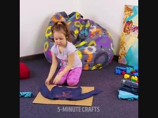 Интересная идея , как научить ребенка складывать вещи!