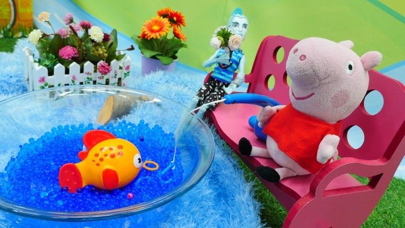 Peixinho Dourado. Peppa Pig Português. Vídeo de brinquedos.