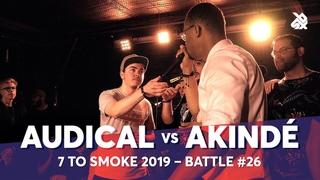 AUDICAL vs AKINDÉ   Grand Beatbox 7 TO SMOKE Battle 2019   Battle 26