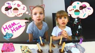 Мы устроили шоколадную вечеринку!!! или Как приготовить шоколадные конфеты. How to make chocolates.