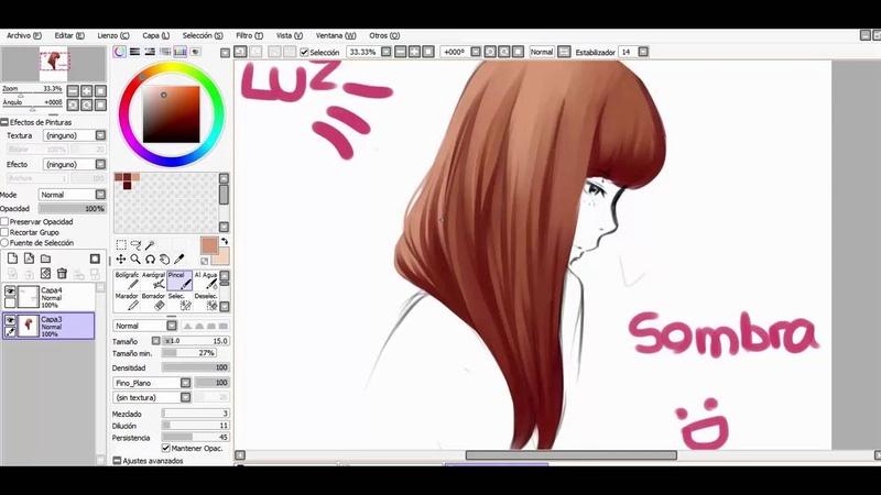 Hair tutorial/ Paint tool sai- Lulybot