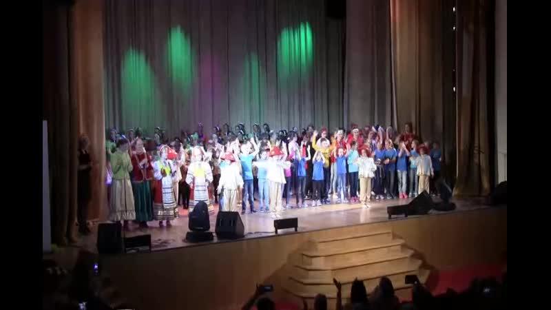 Финал отчетного концерта коллективов «LUCHINUSHKA», «LIL-FAM» и «Забавушка»