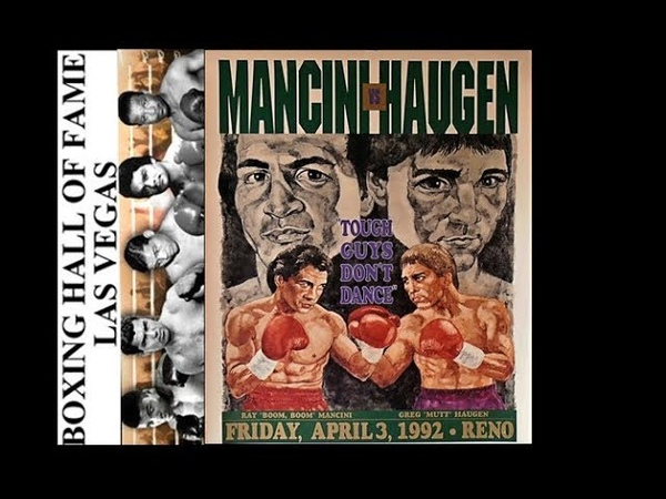 """GREG HAUGEN KOs RAY """"BOOM BOOM"""" MANCINI FOR VACANT NABF TITLE THIS DAY APRIL 3, 1992"""
