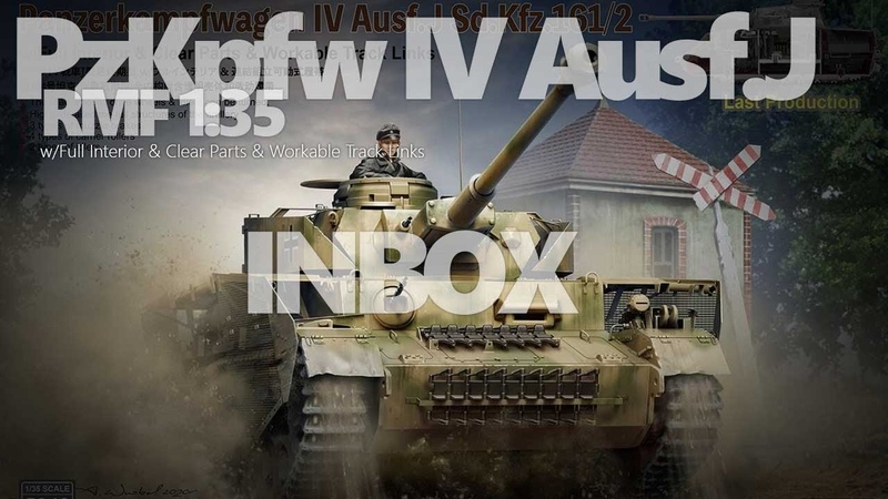INBOX PzKpfw IV Ausf J RMF 1 35 w Full Interior Clear Parts Workable Track Links