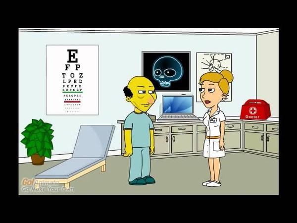 Nurse explains Macular Degeneration to a patient.