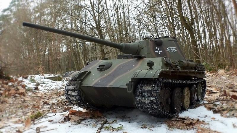 Taigen PANTHER F RC Panzer 1 16 2 4Ghz Testbericht Testfahrt