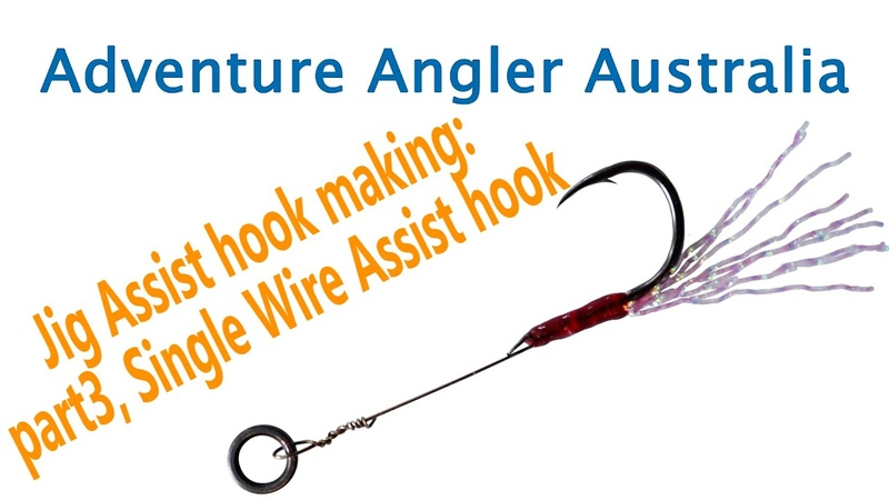 How to Make: Single wire assist hook, jigging hook, micro jigging