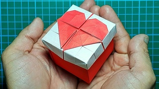 Origami Box With Heart (TUTORIAL) How to make a Box with Heart Origami