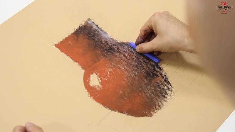 Мастер-класс по рисованию сухой пастелью «Кувшин и яблоко»