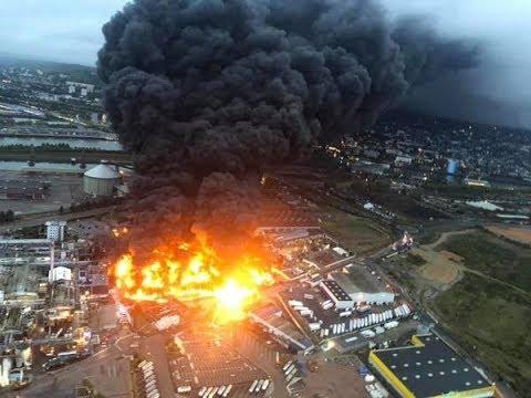 Incendie catastrophique en cours à l'usine Lubrizol à Rouen
