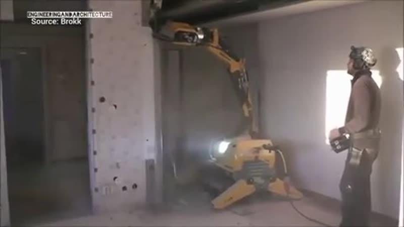 Дистанционно управляемый робот для демонтажа Brokk 60