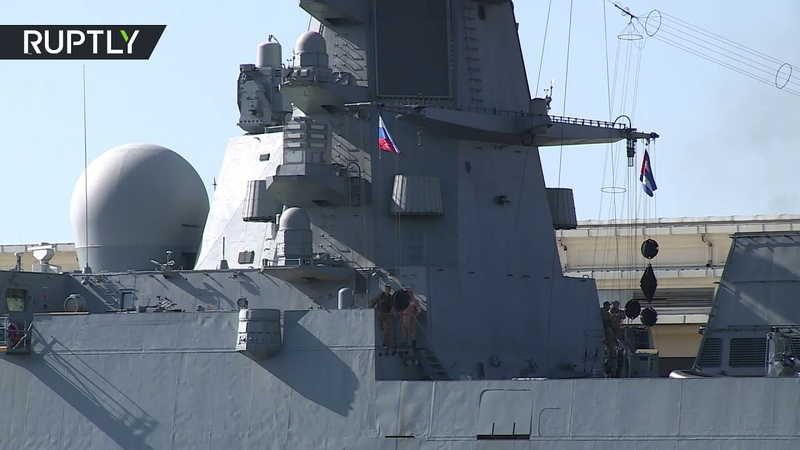 Russian Navy frigate arrives in Cuba under US observation