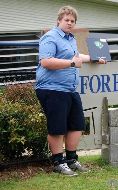 Когда от Энтони ушла любимая девушка, он понял, что пора что-то менять и сбросил несколько десятков килограмм, приведя себя в форму