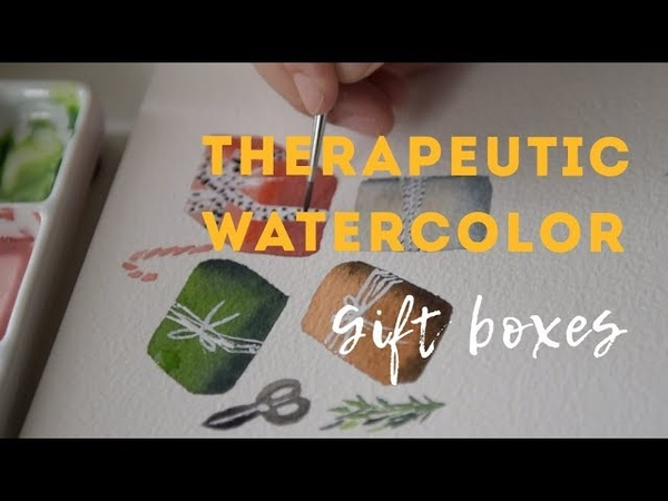 Holiday Watercolor for Beginners | Sketching Gift Boxes