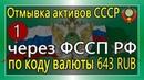 Отмывка активов СССР через ФССП РФ в офшоры по коду валюты 643 RUB 19 07 2018