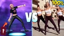 ALL NEW FORTNITE DANCES EMOTES VS REAL LIFE Fright Funk Pump It Up Llama Conga *NEW UPDATE 2019*