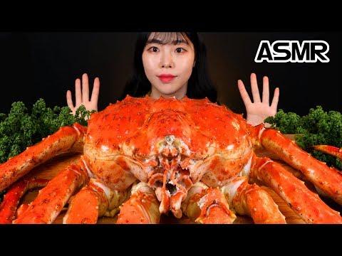 ASMR🦀 대왕 킹크랩 4KG 제일 큰 사이즈 먹방 MUKBANG SEAFOOD GIANT KING CRAB EATING SOUND