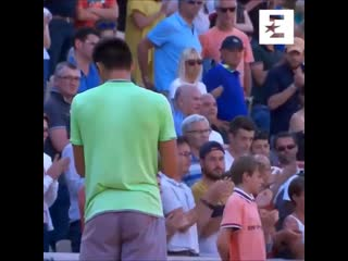 Tennis player's son ran on the court to give him a hug after seeing him cry after loss at the French Open