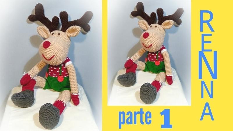 Renna natalizia amigurumi uncinetto reindeer crochet parte 1