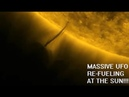 Massive UFO Re Fueling at the Sun Harvesting Sun Energy