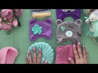 Обзор вязаных шапочек для кукол_ Handmade Knitted Hat