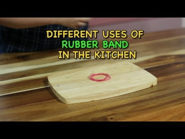 Different uses of rubber band in the kitchen | Kitchen hacks