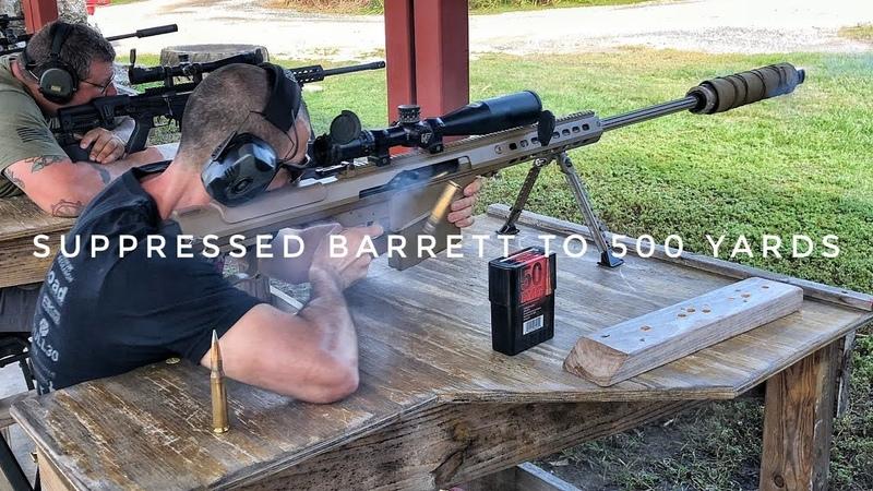 Suppressed Barrett M107A1: 500 yards Subsonic 50 BMG