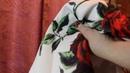 Aliexpress Летняя белая юбка карандаш с розами юбка футляр хлопок полиэстер