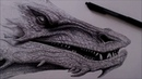 Drawing Smaug the Dragon from the Hobbit.