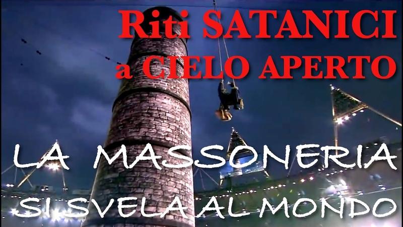 Riti Satanici Massonici a Cielo aperto Olimpiadi San Gottardo Black Lives Matter