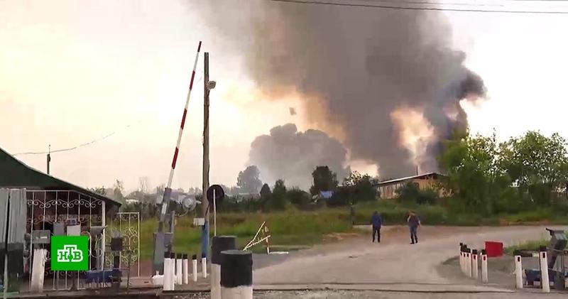 Взрывы на складе боеприпасов под Ачинском прекратились
