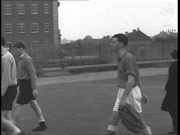 English Team Training For World Cup (1954)