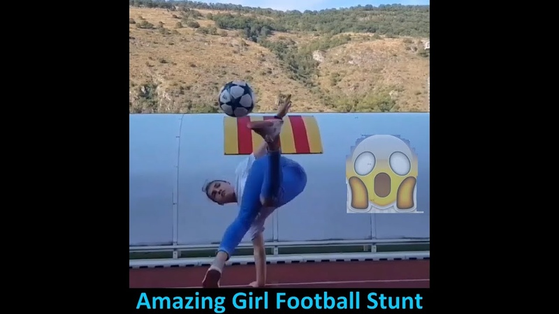 Football Stunt Tricks from football French girl performs football stunt Girls football stunt