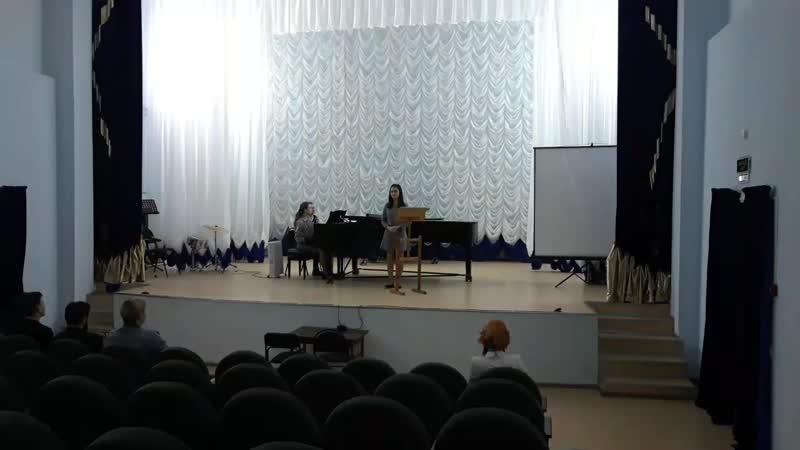 С Василенко Ты лети мой сон лети исп Ирина Шамрай концертм Осипова Полина