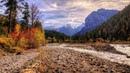 Картинка природа Осень в горах Австрия Карвендель закат Sifat gambar