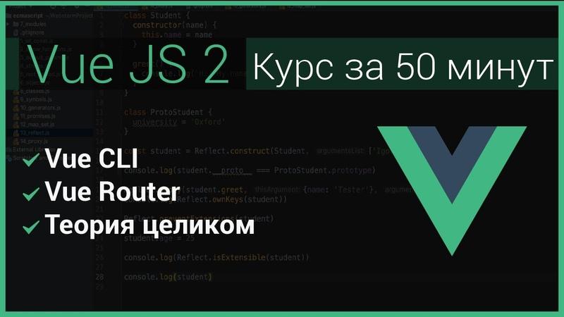 VueJS 2019 - быстрый курс за 50 минут ( Vue Router)