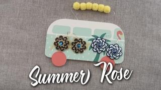 Tutorial - Orecchini Summer Rose