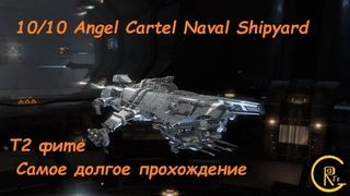 Eve Online самое долгое прохождение 10 Angel Cartel Naval Shipyard в соло Tengu