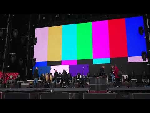 Последние приготовления к концерту группы Машина времени на Открытие арена (29 июня 2019)