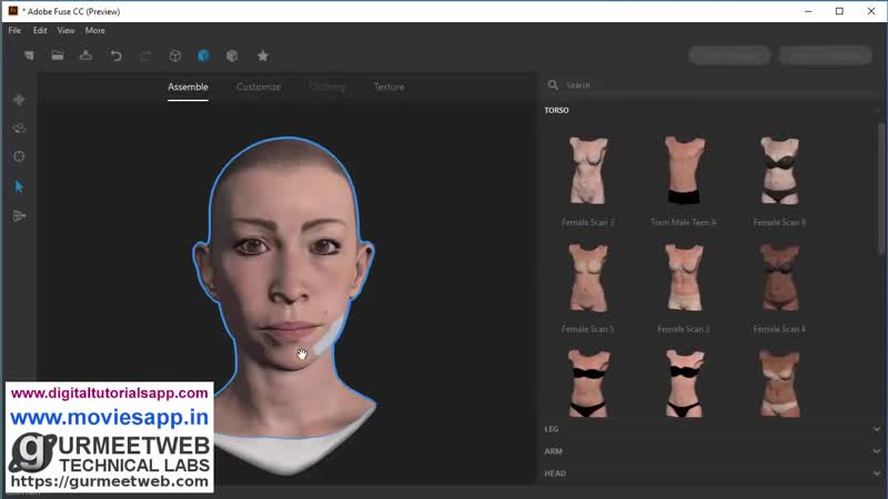How to create 3D Characters using Adobe Fuse CC by GURMEET SINGH DANG