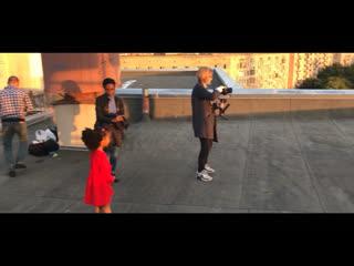 Backstage со съёмок клипа Она.