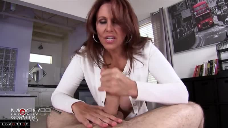 Julia Ann [ Mature &  Masturbation &  POV First Person / Old with young ,  , Jerking off a guy , Cumshot on chest , Grandmothers